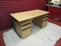 Office desk, draws and chair