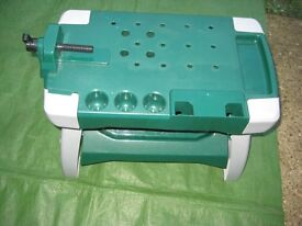 Green and Grey Plastic Stool/Work bench