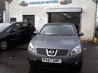 Reg. 12/11/2007 NISSAN QASHQAI 2L DIESEL, 4WD, FSH, 6 SPEED, YEAR MOT, WARRANTY, READY TO GO
