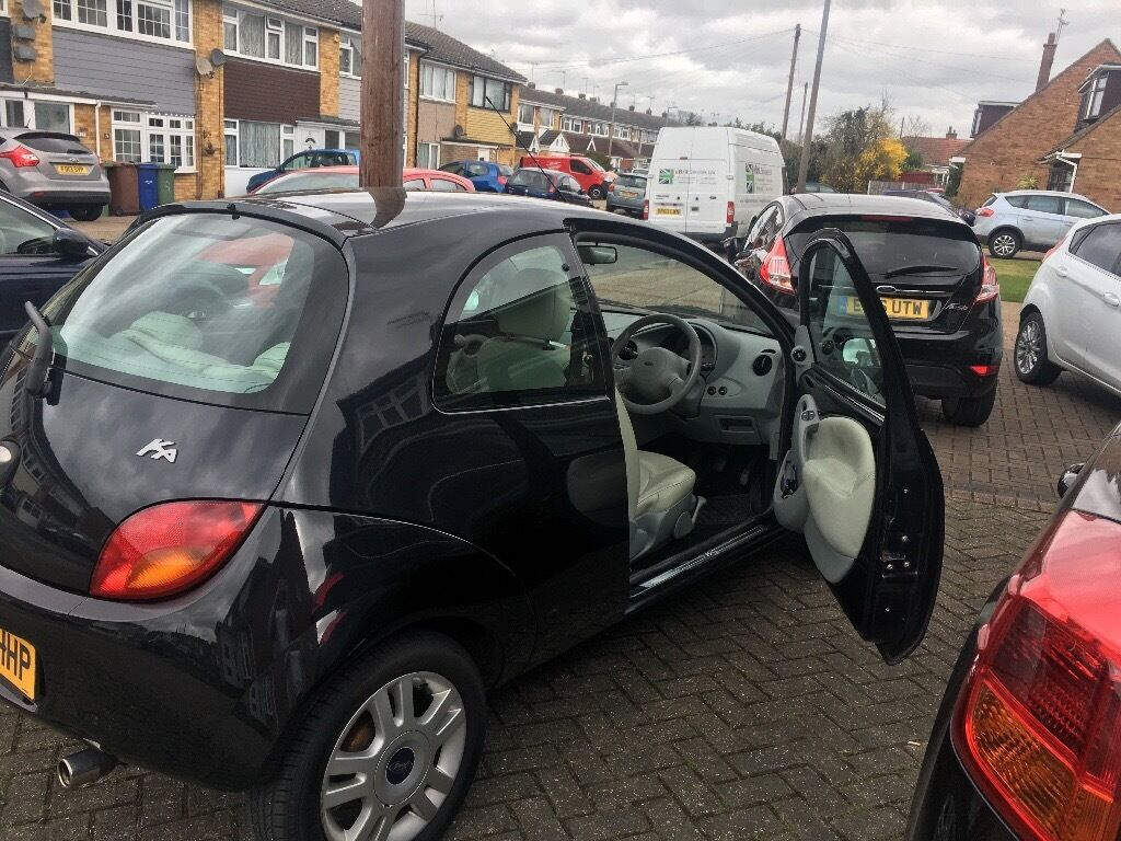 ford ka black luxury edition cream leather interior low mileage in corringham essex. Black Bedroom Furniture Sets. Home Design Ideas