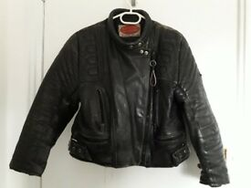 Leather motorcycle jacket ladies