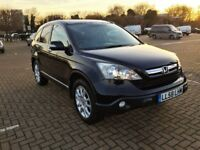 HONDA CR-V EXEC FULL BLACK LEATHER (SAT NAV) FULL SERVICE HISTORY 2009 PANORAMIC VIEW