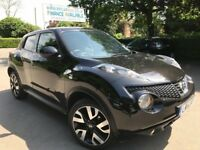 FINANCE £148 PR MONTH 2014 NISSAN JUKE N-TEC 1.6 PETROL 18500 MILES SATNAV CAMERA BLUETOOTH BLACK
