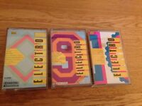 ELECTRO 8 - 9 - and 10 Cassettes from 1985!