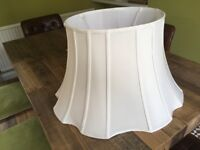 Lampshade for standard lamp, cream fabric, new.