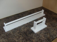 Matching Wooden Towel Rail & Toilet Roll Holder (Brand New)