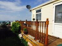 Willerby Granada 35'x12' 2 bed static caravan in Somerset: St Audries Bay with sea views