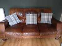 Leather 3 Seater Sofa - Two available