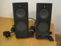 Pair of Logitech computer speakers 230V - 50Hz 40mA, great sound and in very good condition