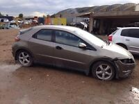 Breaking Honda Civic mk8 - Honda Civic car parts spares breaking 2005-2011 model