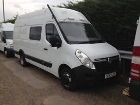 2014 vauxhall movano ex police riot bus your new motor home 27,000 miles fsh