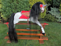 TRADITIONAL WOODEN ROCKING HORSE BY COLLINSONS