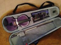 Stentor Violin, 1/2 size (age 7-9), purple, in great condition