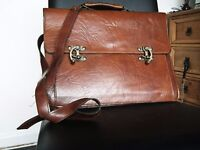 Leather brief case. A bargain at £15