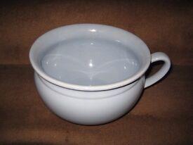 Vintage Light Blue Porcelain Chamber Pot