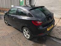 Seat Ibiza 2011 1.4 Sport Coupe Black DAMAGED BARGAIN!!!