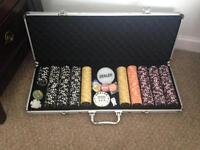 Poker set with lockable case