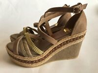 Kanna wedges strappy sandals new!