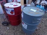 Professional Sale Empty Oil Barrel Drum 205 Litres 45 Gallon Bbq Incinerator Bin Unused Coleccionismo