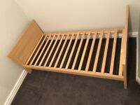 Oak effect toddler bed - no mattress. Collection only. Great condition