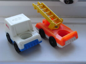 fisher price 1970s toys x3