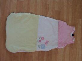 Two JoJo Maman Bebe baby sleeping bags - age 6-12 months