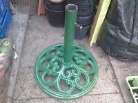 Parasol Holder - Cast Iron - Sunshade Garden Umbrella Stand