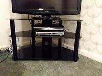 Black, modern TV stand