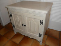 Cream Painted 2 Door Bedside Cabinet, Side Table or TV Stand