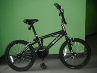 BMX BIKE BLACK 'RHINO' FRAME AND WHEELS