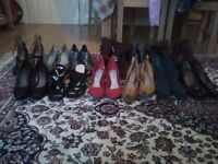 Ten pairs of ladies nearly new shoes, few Nine West brand and the rest are Clarks