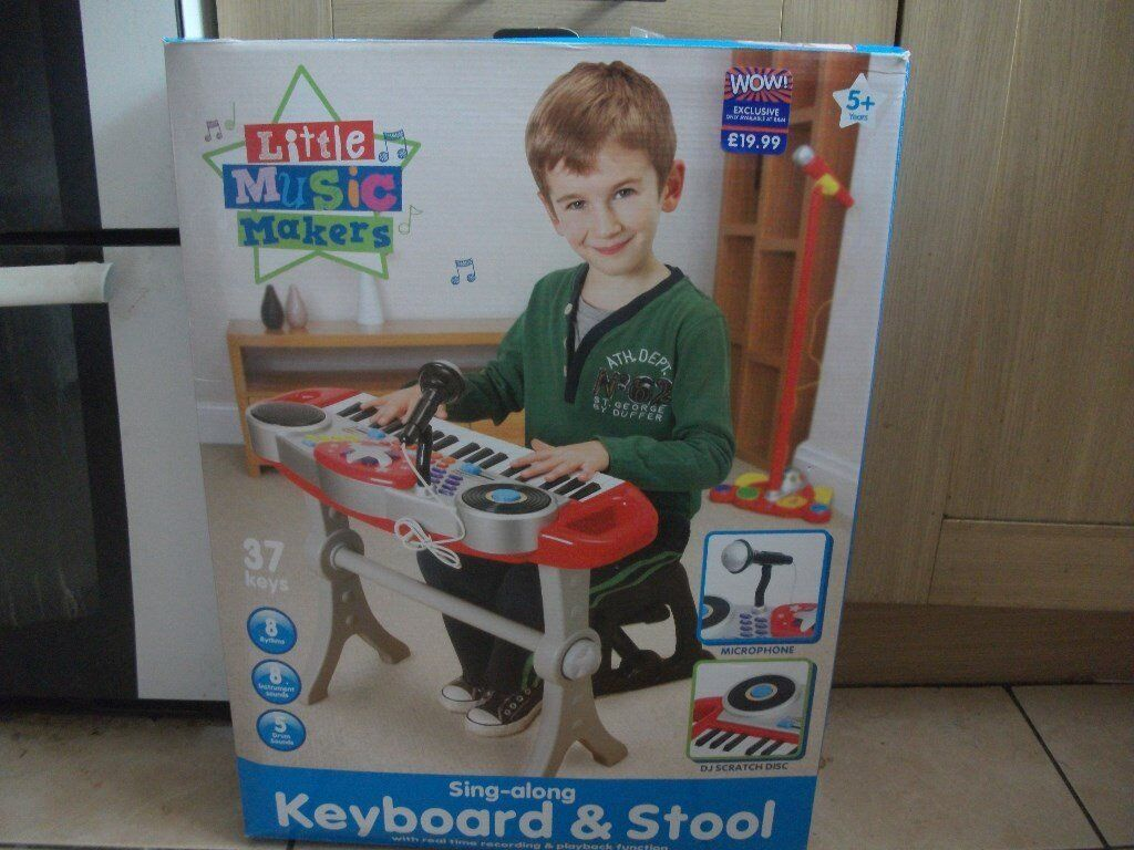 Keyboard in BoxStoll Opened but not usedin Llanrumney, CardiffGumtree - Keyboard and Stool still in box Never used. Bargain Colletion Only but can deliver if Llanumney/Splott Area