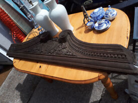 LARGE PIECE OF CARVED WOOD VICTORIAN CHURCH PIECE COUNTRY HOUSE PIECE IN YEOVIL