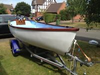 Dinghy 12 ft , Honda 5 HP Four stroke and trailer 18 months old ,As new Condition