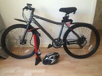 """Carrera Subway 21"""" bike with accessories. Excellent condition."""