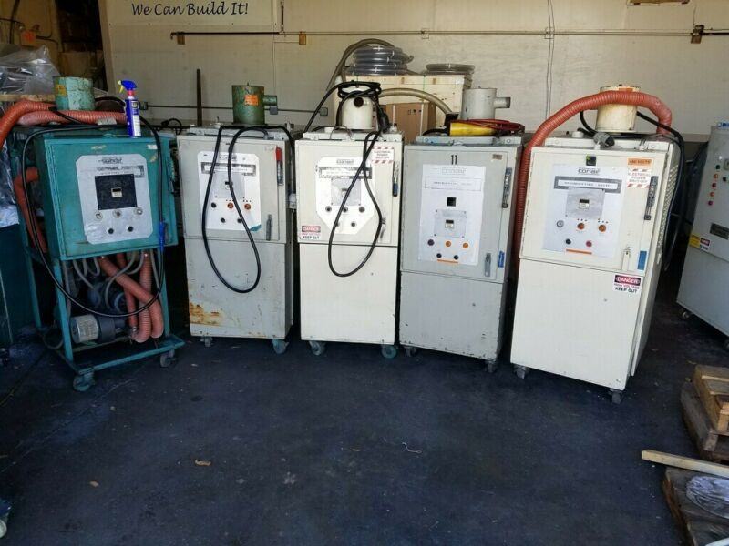 Plastic process dryers, Conair, dessicant, working, used