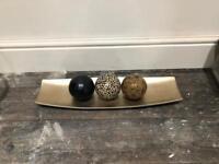 Decorative Tray with Balls
