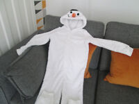 GIRLS ONESIES / DRESSING GOWN - AGE 8-9 YEARS - GC - FROM £2.00