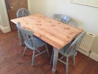Lovely dining table and chairs (delivery available)