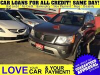 2007 Pontiac Torrent * AWD * LOANS FOR ALL CREDIT