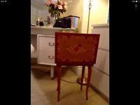 Beautiful vintage Italian musical jewelry box table