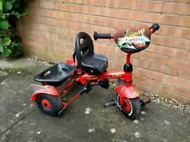 Lightning McQueen Trike with Parent Handle