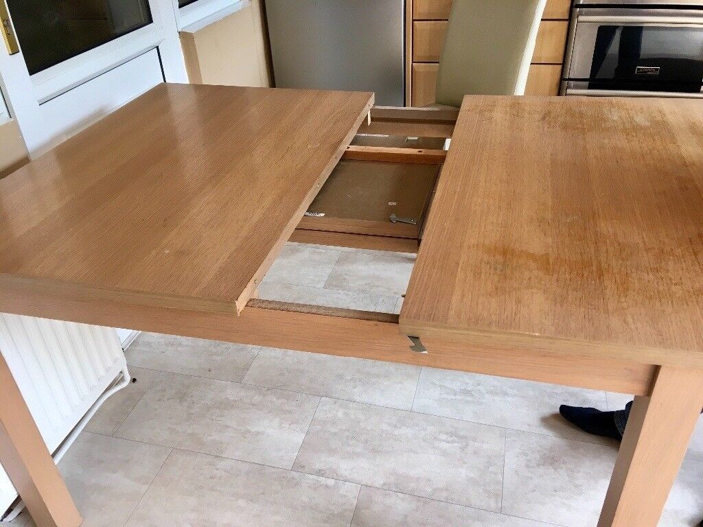 Extendable Beech Dining Table Chairs In Leicester - Extendable beech dining table