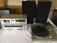 Technics complete Turntable/Cassette/FM/MW/LW stereo system