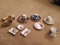 Various pieces of fine bone china