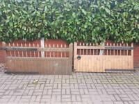 2 wooden gates