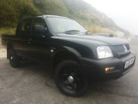 "4X4 MITSUBISHI L200 IN """" BLACK """" 2 OWNER ONLY CLEAN MOTOR"