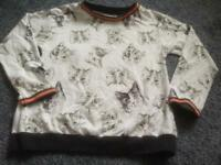 Next sweatshirt girls / cat jumper size 9-10