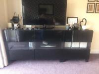 Ikea Besta black high gloss tv unit