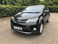 STUNNING 2013 63 TOYOTA RAV-4 DIESEL ICON 4X4 FULL SERVICE HISTORY RELIABLE JEEP PX WELCOME £8000